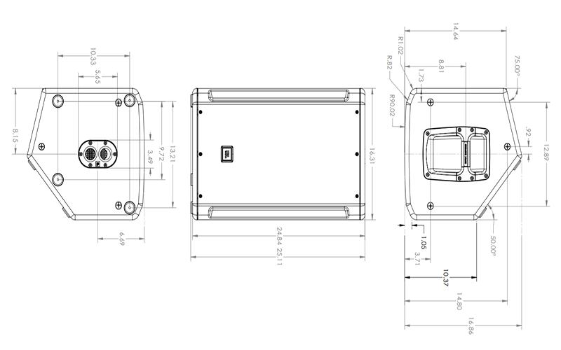 Kích thước Loa JBL SRX812