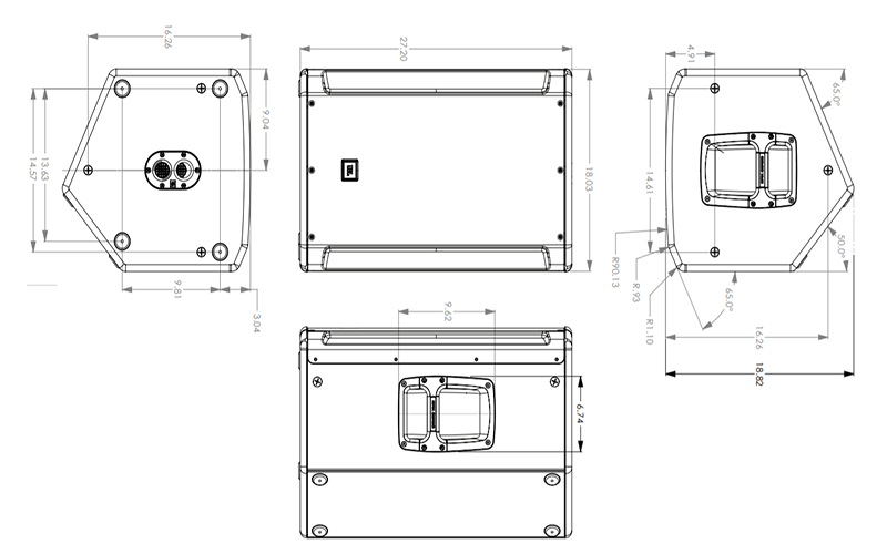 Kích thước Loa JBL SRX815