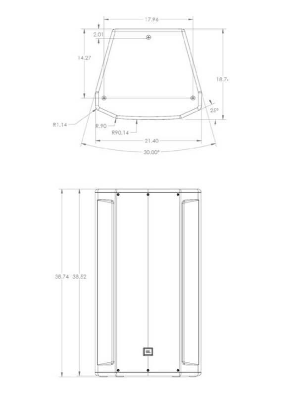 Kích thước Loa JBL SRX835