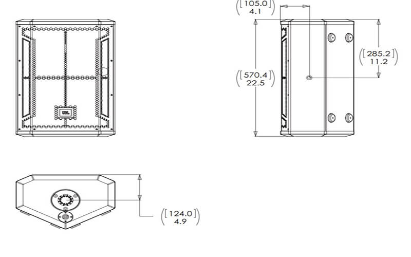 Kích thước loa JBL STX812M