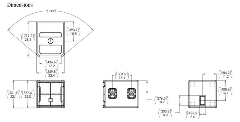Kích thước loa JBL STX818S