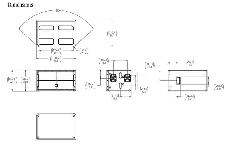 Kích thước loa sub JBL STX828S