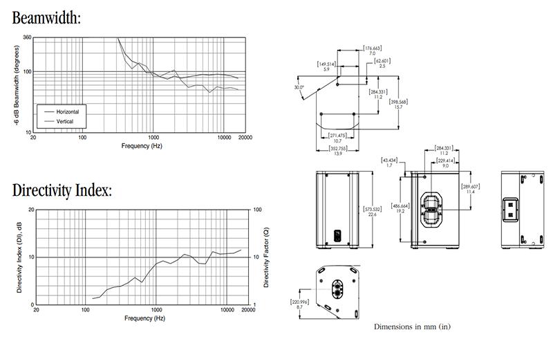 Thông số kỹ thuật Loa JBL PRX412M