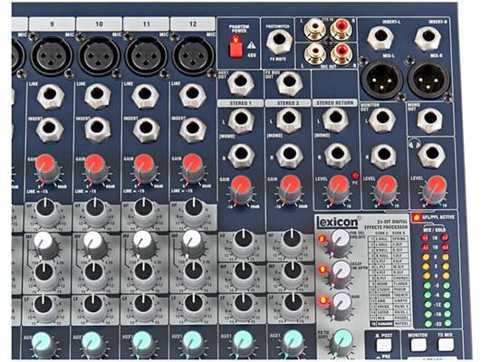 Đèn LED tín hiệu mixer soundcraft EFX12