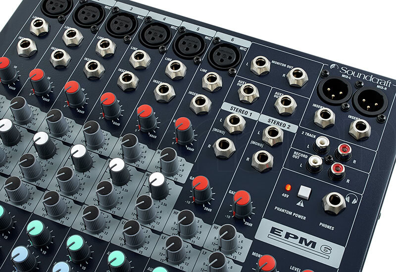 Ổ cắm mixer soundcraft EPM6