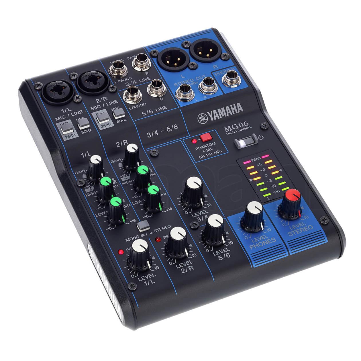 Bảng điều khiển Mixer Yamaha MG06