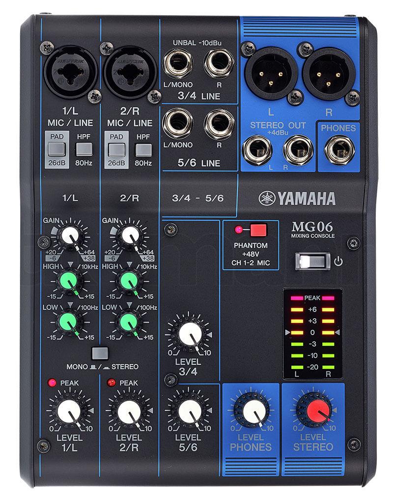 Bảng điều khiển bàn Mixer Yamaha MG06