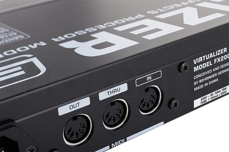 Cổng kết nối MIDI trên FX2000