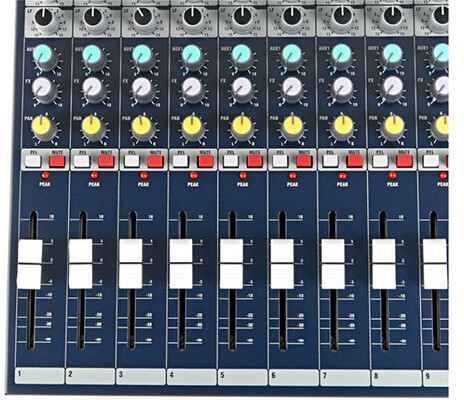 Fader âm lượng mixer soundcraft EFX12