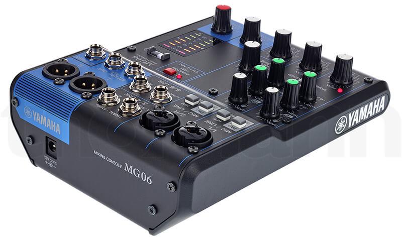 Kích thước Mixer Yamaha MG06