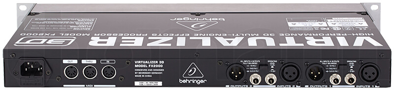 Mặt sau Behringer FX2000