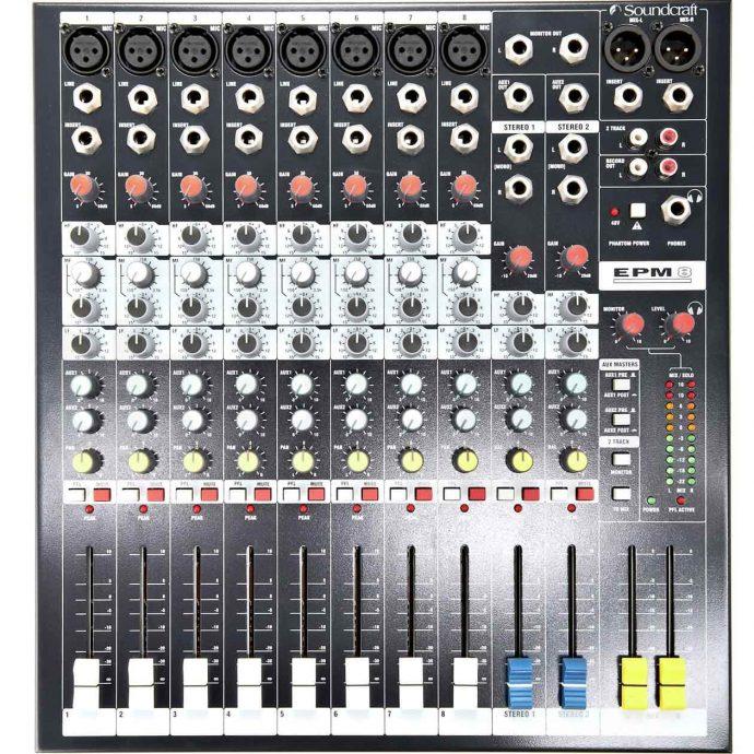 Mặt trước Mixer Soundcraft EPM8