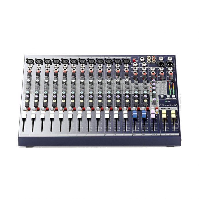 Mặt trước mixer soundcraft EFX12