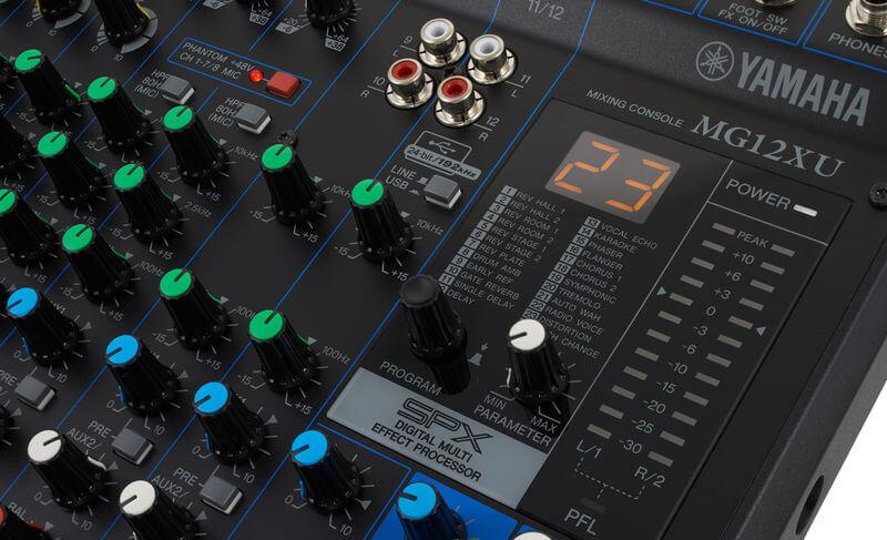 24 Chương trình của Mixer Yamaha MG12XU