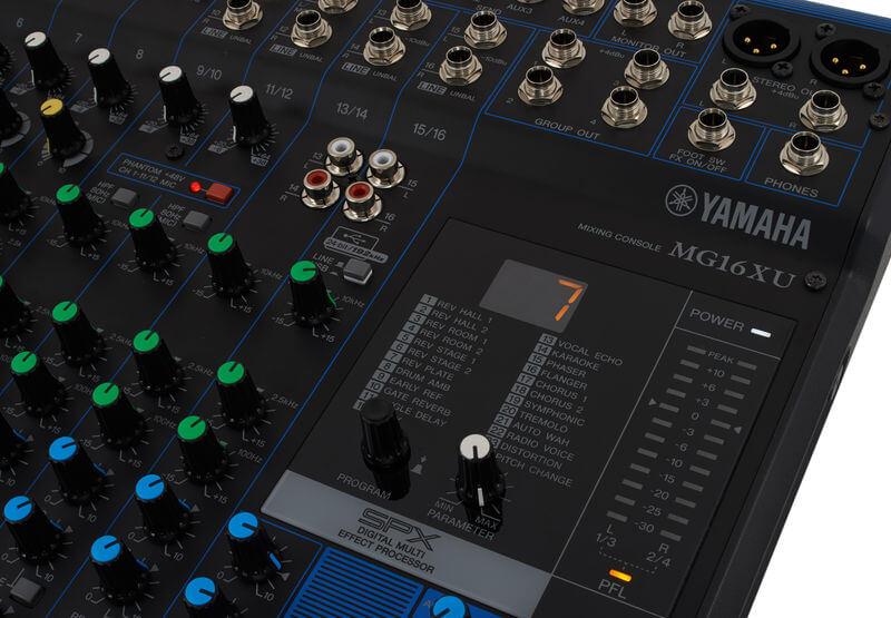24 Chương trình của Mixer Yamaha MG16XU