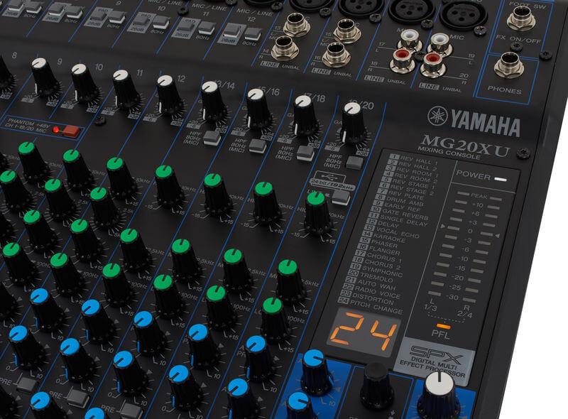 24 chương trình của Mixer MG20XU