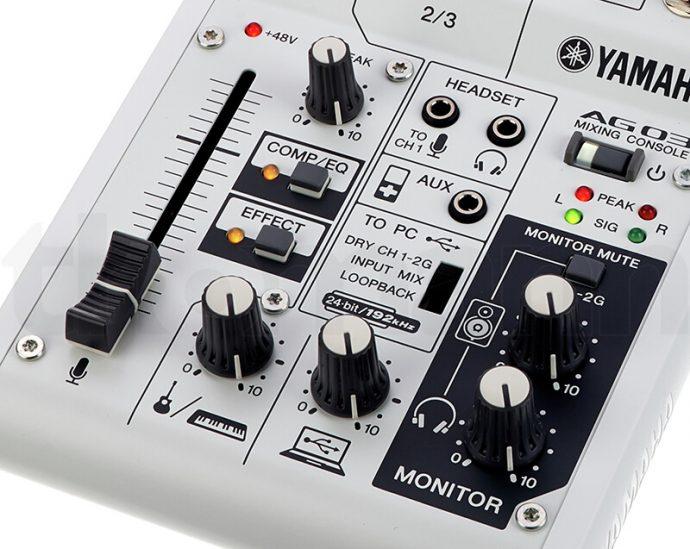Bảng điều khiển Mixer Yamaha AG03