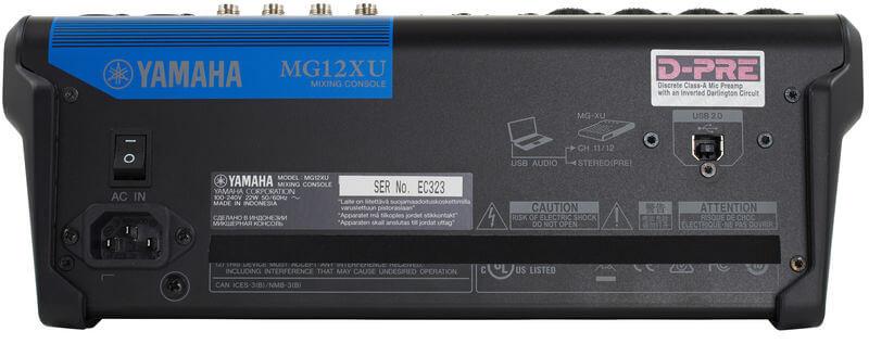 Cổng USB của Mixer Yamaha MG12XU