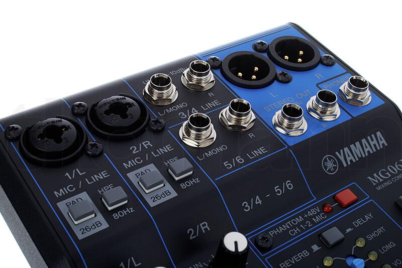 Cổng kết nối Mixer Yamaha MG06X