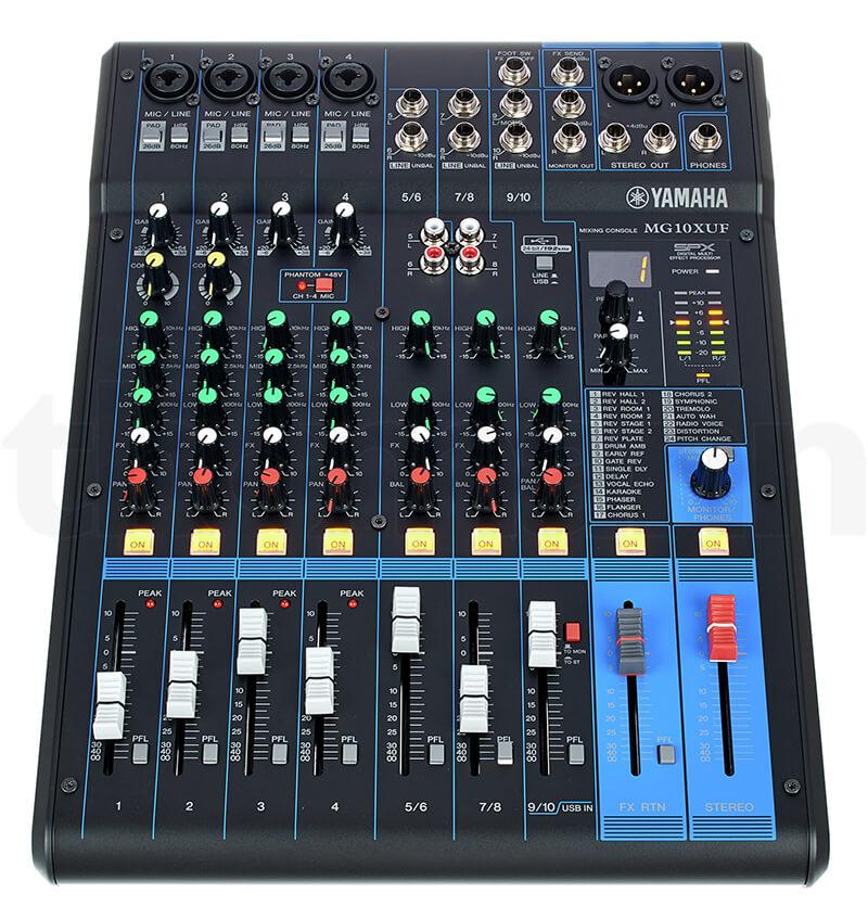 Giao diện điều khiển Mixer Yamaha MG10XUF