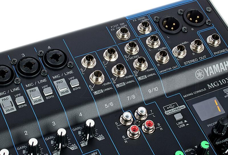 Đầu kết nối Mixer Yamaha MG10XUF