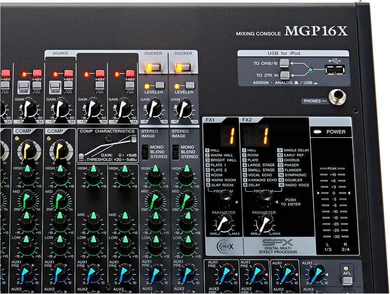 16 hiệu ứng của Mixer Yamaha MGP16X