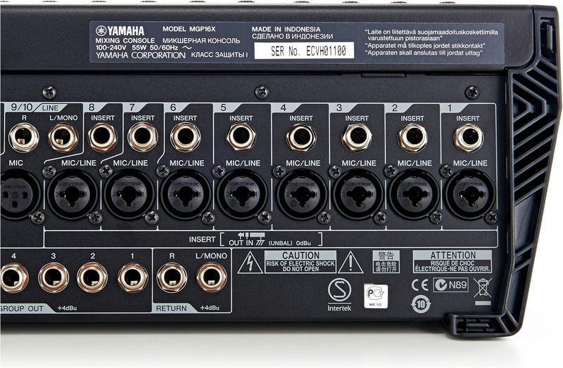Cổng kết nối của Mixer Yamaha MGP16X