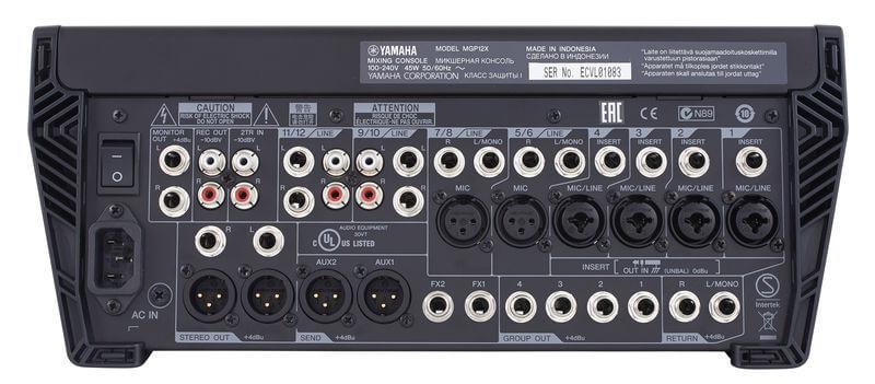Cổng kết nối của Mixer Yamha MGP12X