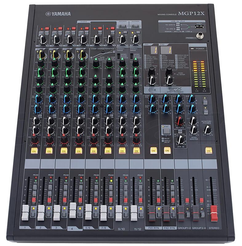Giao diện điều khiển của Mixer Yamaha MGP12X