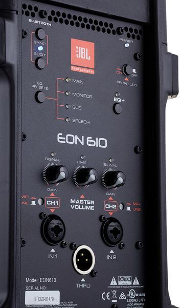 Giao diện điều khiển và kết nối của Loa JBL EON610
