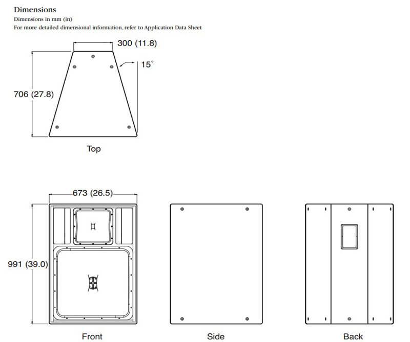 Kích thước của Loa JBL PD6322