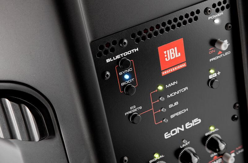 Loa JBL EON615 tích hợp kết nối không dây Bluetooth