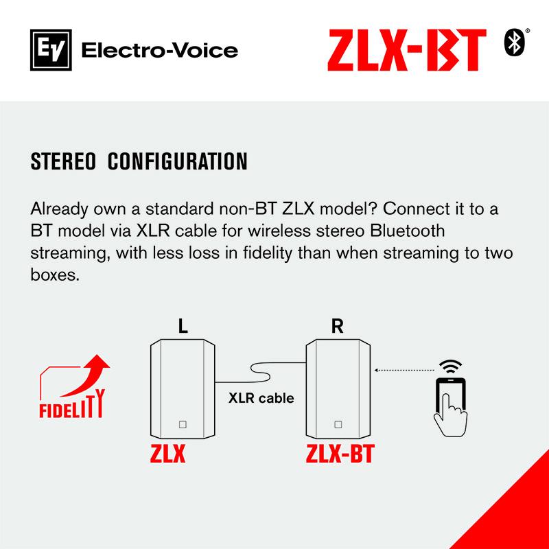 Loa ZLX-15BT với kết nối Bluetooth không dây