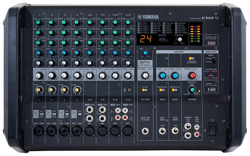 Mặt trước của Mixer Yamaha EMX5