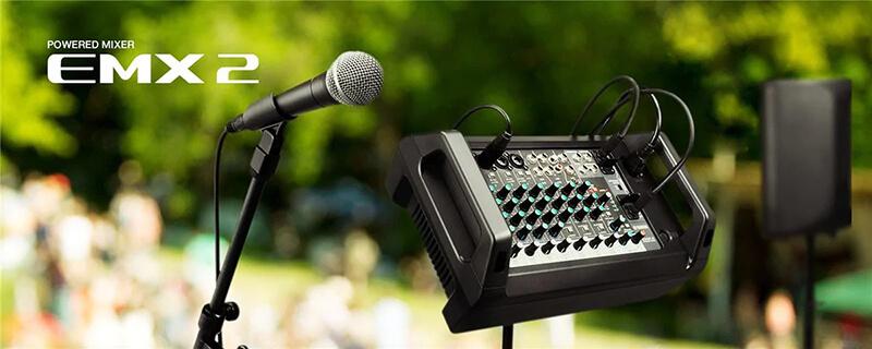 Mixer Yamaha EMX2 có tính di động cao