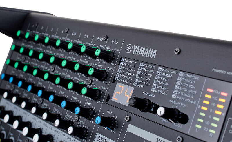 Mixer Yamaha EMX5 có tất cả 24 hiệu ứng