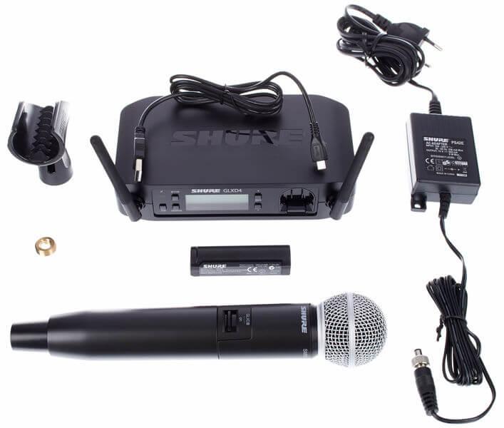 Tất cả phụ kiện của Micro Shure GLXD24-SM58