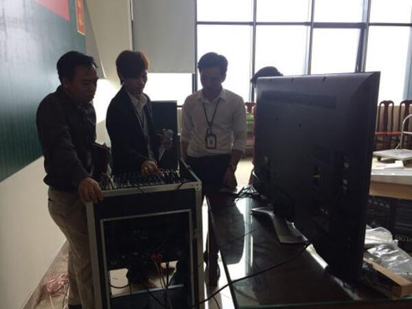 Lắp đặt hệ thống âm thanh hội trường tại trụ sở Viettel