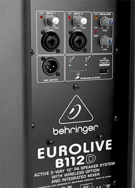 Bảng điều khiển của Loa Behringer Eurolive B112D