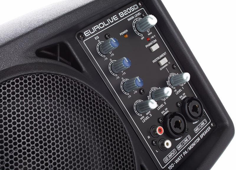 Bảng điều khiển của Loa Behringer Eurolive B205D