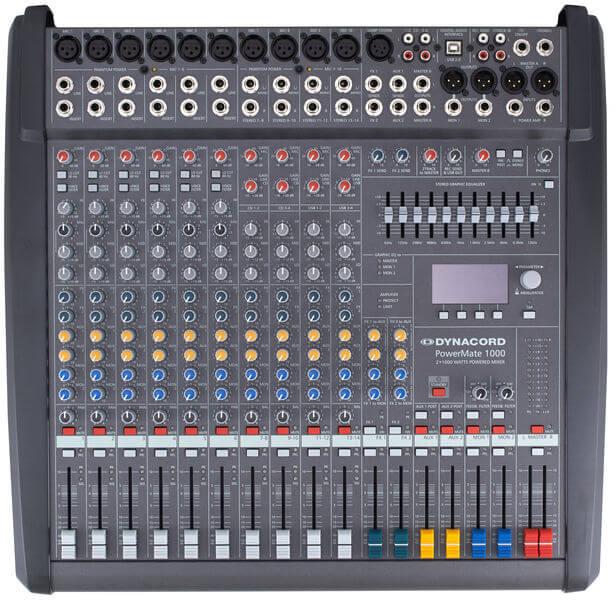 Bảng điều khiển của Mixer Dynacord Powermate 1000-3