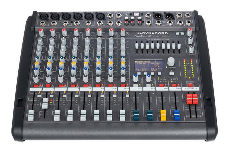 Bảng điều khiển của Mixer Dynacord Powermate 600-3
