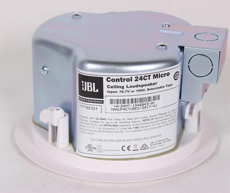 Mặt sau của Loa âm trần JBL Control 24CT Micro