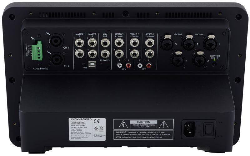 Mặt sau của Mixer Dynacord PM 502