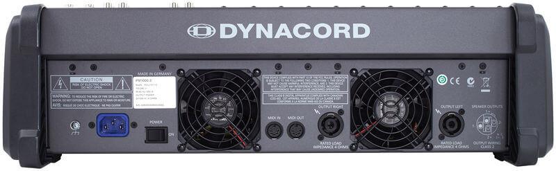 Mặt sau của Mixer Dynacord Powermate 1000-3