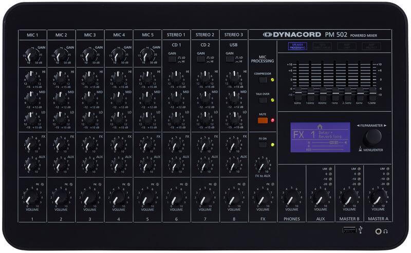 Mặt trước của Mixer Dynacord PM 502