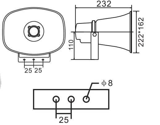 Loa phóng thanh APlus A-H215 hàng nhập khẩu 100% Đức, Giá Rẻ