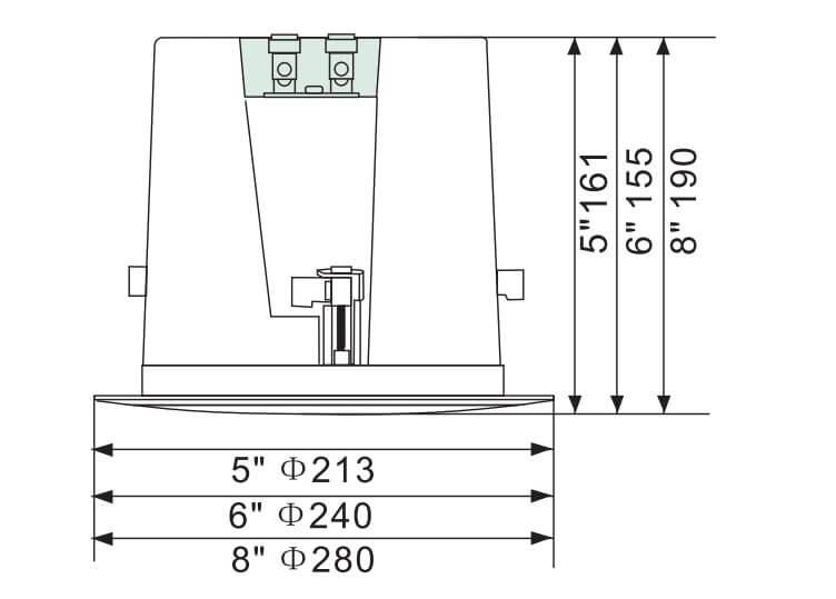 Loa âm trần cao cấp Aplus A-805V